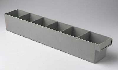 Fischer Plastic Products Storage Spare Parts Trays 100mm*100mm*600mm 1H-027 GREY