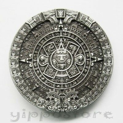 Aztec Mayan Calendar Metal Fashion Belt Buckle