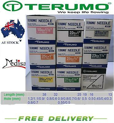 TERUMO Disposable Hypodermic Needles 18/19/20/21/22/23/25/26/27 Gauge Filts all