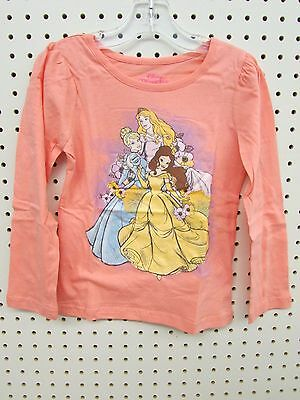 Disney Princess Warm Peach Long Sleeve Shirt (TODDLER GIRL SIZE'S 3T, 4T, or 5T)
