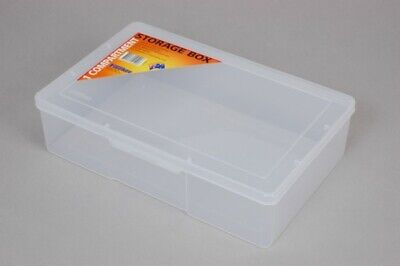Fischer Plastic Products 1 Compartment Storage Box Large / Deep 1H-096 Clear