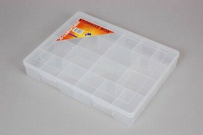 Fischer Plastic Products 20 Compartment Storage Box Extra Large 1H-097 Clear