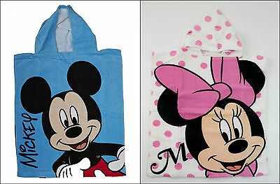 Disney Mickey Minnie Mouse Children's Beach Bath Poncho Cape Towel Boys Girls