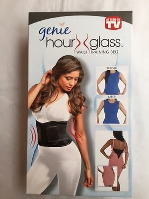 New Genie Hour Glass Waist Training Belt 2 Sizes Slimmer In Seconds Black