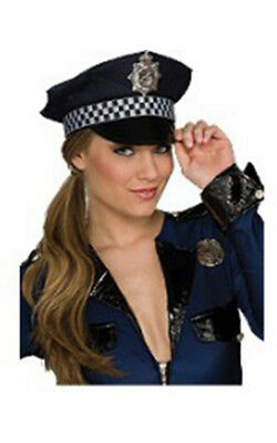 Police Cop Hat Adult Mens Womens Halloween Costume Accessory