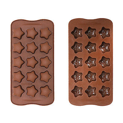 Silicone Ice Tray / Chocolate Mould For Sugarcraft / Cakes / Cupcakes - Stars