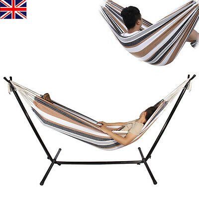 Hot Outdoor Swing Chair Hanging Camping Cotton Double Bed Patio Canvas Hammock