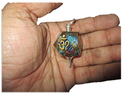 Exquisite Om Aum Engraved Orgone Pendulum Hexagon Octagon Energy Healing Power