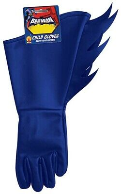 Licensed Batman Brave And Bold Blue Child Gloves Halloween Costume Accessory