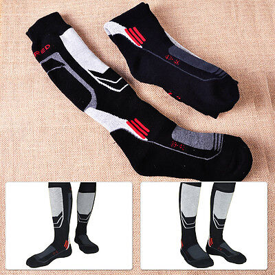 Men Long Thick Sport Socks Thermal Snow Ski Hiking Outdoor Snowboard Warm Casual