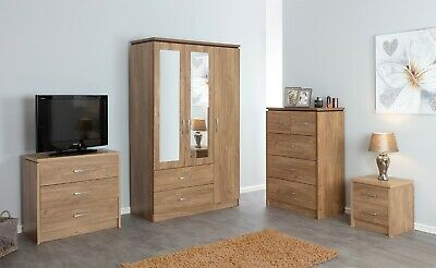 NEW Charles Oak Bedroom Furniture Units Large Wardrobe Dressing table Desk set