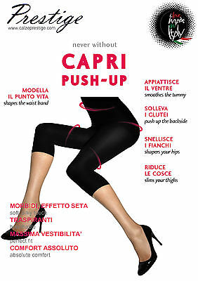 Pr430 Capri Push Up Leggings Corto Modellante Contenitivo Snellente