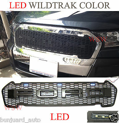 Front Grill LED Grey For FORD Ranger T6 Pickup UTE Raptor Facelift Wildtrak 2016