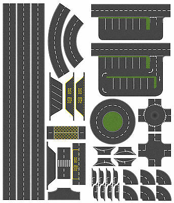 46mm Tarmac Effect Road Layout Kit, suit N Gauge Hornby etc. Self Adhesive Vinyl