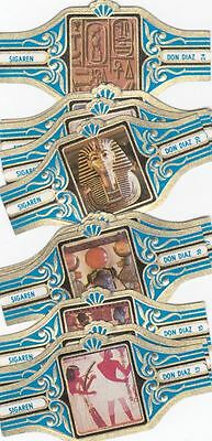 12 small cigar bands Don Diaz Old Egyptian Art blue
