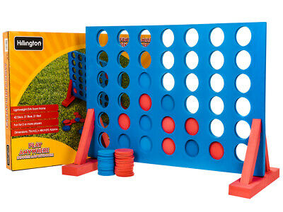 Large 4 In A Row Connect 4 Eva Foam Garden Indoor Game Bbq Fun Picnic Party Blue