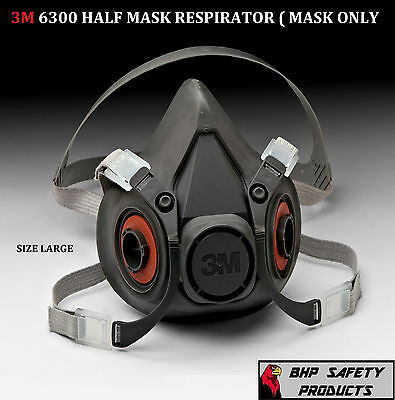 3M Half Mask Reusable Respirator 6300 Size Large (Mask Only) Free Shipping!