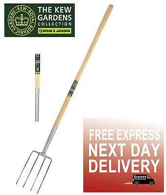 Spear & Jackson Kew Gardens Never Bend Stainless Steel Digging Border  Fork