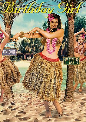 Hula Birthday Girl Card