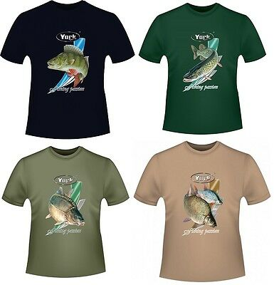 YORK T-Shirt für Angler Fishing Passion 100% Baumwolle Neu