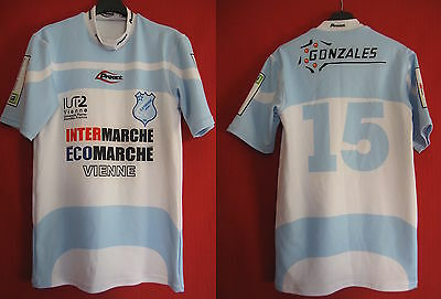 Maillot Rugby Proact CS Vienne porté n°15 vintage - L