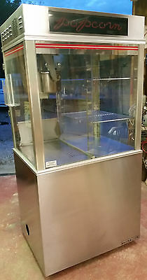 Gold Medal Model 1618 Ets 16 Oz Popcorn Machine Popper With Neon Sign & Oil Pump