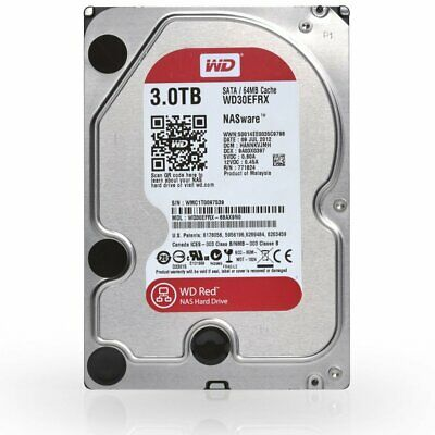 "Western Digital 3TB NAS Red Hard Drive Home Server 3.5"" HDD SATA III 64MB Cache"