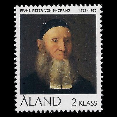 Aland 1992 - Birth of the Minister Frans Peter von Knorring - Sc 63 MNH