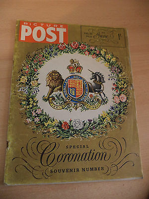 OLD VINTAGE 1950s PICTURE POST MAGAZINE 6 june 1953 royalty queen coronation
