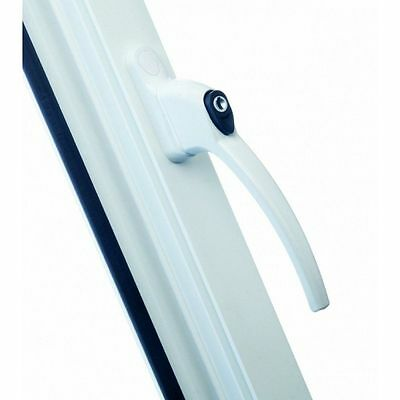 Upvc Locking Window Handle With One 1 Key- White Finish - New