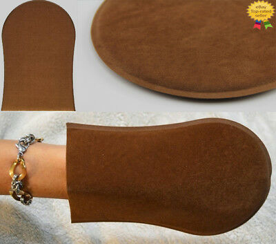 Self Tan Velvet Tanning Mitt Gloves For A Streak-Free Application Fast Post UK