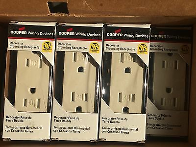 Lot of 10 Cooper Decorator Grounding Receptacles 15A 125V Gray 1107GY-BOX NEW!