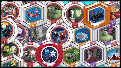 DISNEY INFINITY 2.0 Marvel Heroes Power Disc - Complete Your Set - You Choose