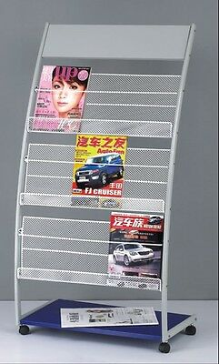 magazine display rack brochure holder stand shelving (#622)