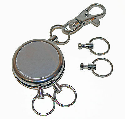 Multi Quick release with snap shut clip. 5 X Keyring. Key Holder key ring chain