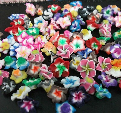 DIY Mixed Polymer Fimo Clay Flower Spacer Loose Beads 10/20/50/100PC