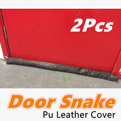 2x Door Snake Draft Stopper Sausage Draught Excluder Cold Weather Homeware