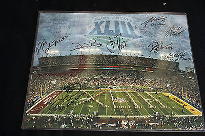Pittsburgh Steelers Superbowl Xliii Signed 16X20 By 9 Players Or Winning Team