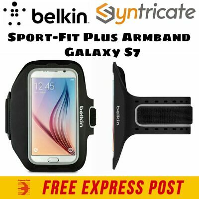 Belkin Sport-Fit Plus Lightweight Adjustable Armband for Galaxy S7/S7 Edge-Black