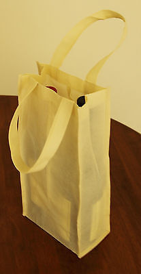 Non Woven Gift Bag, 2 Bottle Wine Bag, 15Pcs