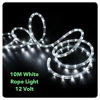 10M LED WHITE 12 Volt Rope Lights , 4 Boats, 4WD ,caravans, Male cigar