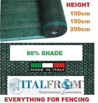 5M Flat Wire Fence Privacy Net Sewing Buckle Sunshade Fence Protection Net UK