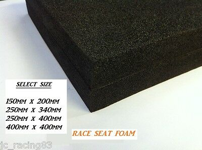 Trackday Race Bike Seat Foam, 40mm Thick, Self Adhesive