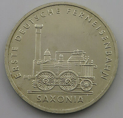 GERMANY DDR 5 MARK 1988 SAXONIA TOP  #jx 265