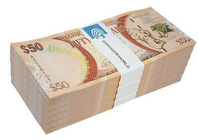 Guyana $50 Dollars X 500 Pieces (PCS), 2016, P-41, UNC, Half Brick