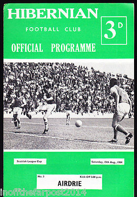 1964/65 HIBERNIAN V AIRDRIE 15-08-1964 Scottish League Cup
