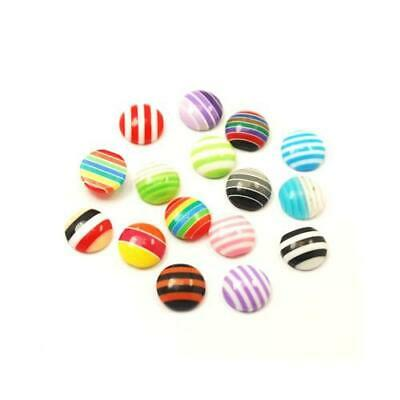 Packet of 30 x Mixed Resin 4 x 10mm Coin-Shaped Flat-Backed Cabochon Y03810