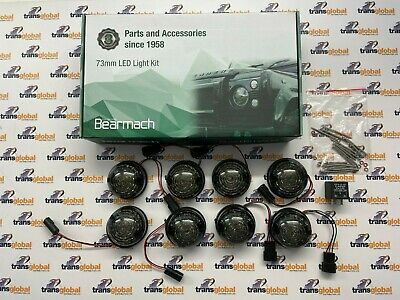 Land Rover Defender LED Lamp Upgrade Kit 73mm SMOKED Lens - Bearmach - BA 9720