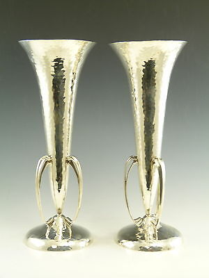 Sterling SILVER - Pair of ARTS & CRAFTS Vases - Robert and William Sorley 1905