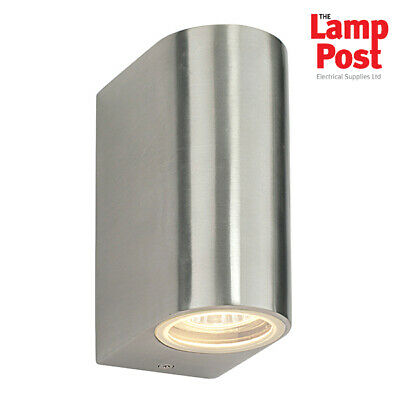 Saxby Aura IP44 Stainless Steel LED Up & Down Outdoor Wall Light 1W - 12522